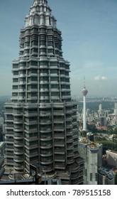 KUALA LUMPUR, MALAYSIA - JANUARY 6: Petronas Towers on 2 January 2018 at Kuala Lumpur. Petronas Towers are  the most famous landmark of KL. - Shutterstock ID 789515158