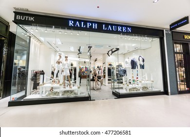 KUALA LUMPUR, MALAYSIA - JUL 2016 - The outer facade of the Ralph Lauren boutique in Pavilion KL shopping mall taken on 16 July 2016. Pavilion KL is a shopping mall located in Bukit Bintang.