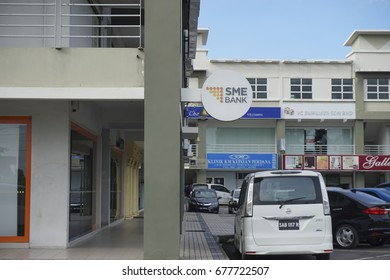 KUALA LUMPUR, MALAYSIA - JULY 10, 2017: SME Bank branch in Kota Kinabalu,Sabah. SME Bank offers an extensive product to cater to the SMEs which include business, contract and premise financing.