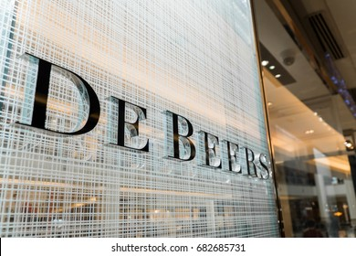 KUALA LUMPUR, MALAYSIA - JULY 11, 2017: The De Beers Group of Companies has a leading role in the industrial diamond founded in 1888 by British businessman Cecil Rhodes.