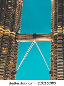 Kuala Lumpur / Malaysia - July 13 2013: Beautiful Petronas twin towers at Night