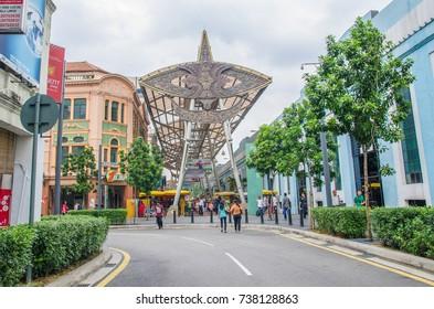 Kuala Lumpur, Malaysia - July 13,2015 : People can be seen walking and shopping around Kasturi Walk alongside Central Market,Kuala Lumpur.