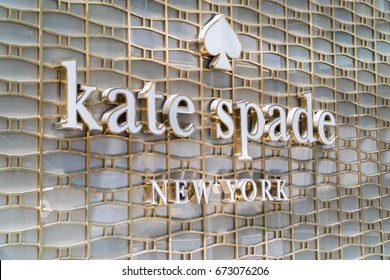 KUALA LUMPUR, MALAYSIA - JULY 2, 2017: Kate Spade New York , Kate Spade New York is an American fashion design house founded in January 1993 by Kate Spade.