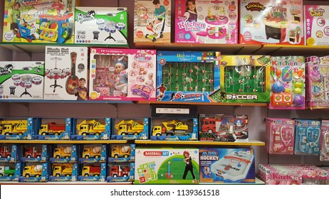 Kuala Lumpur, Malaysia - July 22 2018:  Toys department in Parkson Shopping Mall