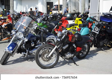 KUALA LUMPUR, MALAYSIA -JULY 29, 2017: Group of big bike and superbike parking at the open area.