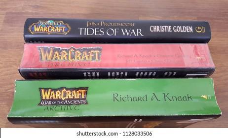 Kuala Lumpur, Malaysia - July 6 2018: Warcraft Books Novel