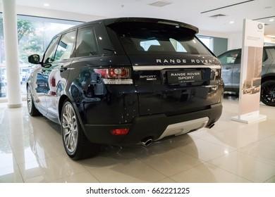 KUALA LUMPUR, MALAYSIA - JUNE 17, 2017: Range Rover Sport at the showroom in Kuala Lumpur Malaysia