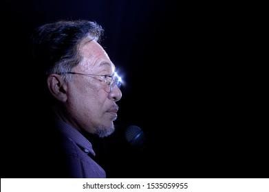 KUALA LUMPUR, MALAYSIA -JUNE 2019  : PKR President, Datuk Seri Anwar Ibrahim