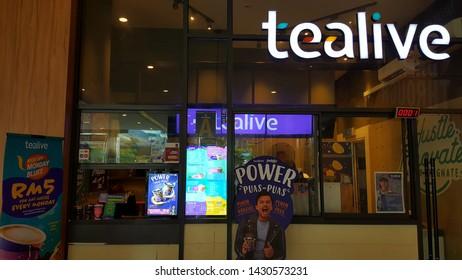 Kuala Lumpur , Malaysia - June 22 2019: Tealive is a Taiwanese global franchise teahouse chain based in Taiwan