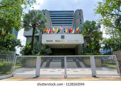 KUALA LUMPUR, MALAYSIA - JUNE 27, 2018 : The Central Bank of Malaysia (BNM; Bank Negara Malaysia) is the Malaysian central bank. BNM is to promote monetary and financial stability.