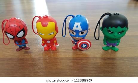 Kuala Lumpur, Malaysia - June 30 2018: Avengers Tesco Toys