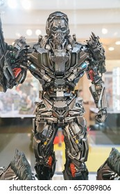 KUALA LUMPUR, MALAYSIA - JUNE 4, 2017: Replica of Lockdown from The Transformers on display at road show on June 4, 2017 in Kuala Lumpur Malaysia. This event promotes new upcoming Transformers movie