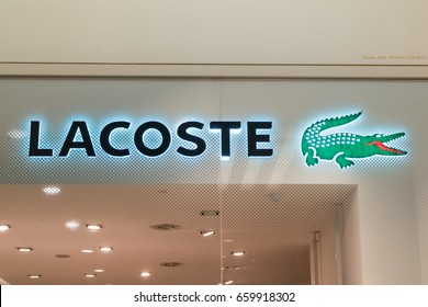 KUALA LUMPUR, MALAYSIA - JUNE 4, 2017:  Lacoste shop at 1Utama Mall. Lacoste is a French clothing company, founded in 1933 by tennis player René Lacoste and André Gillier.