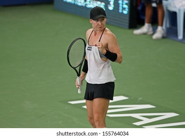 Kuala Lumpur, Malaysia, March 02 2013: American Bethanie Mattek-Sands gestures during the final match of the WTA Malaysian Open tennis tournament