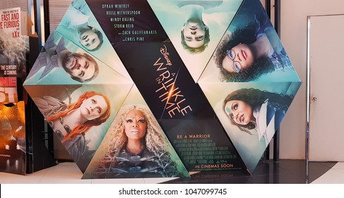 KUALA LUMPUR, MALAYSIA - MARCH 11, 2018: A Wrinkle in Time, is an upcoming American science fantasy adventure film based on the 1962 novel
