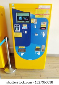 """""""Kuala Lumpur, Malaysia- March 1,2019: All parking machine in Malaysia will replace for new cashless technology in June 2019. It help to reduce number of crime rate at parking payment machine."""""""