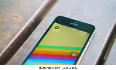 Kuala Lumpur, Malaysia - March 14: a photo of Kakao Talk apps on an iPhone. The apps becomes famous due to an artist controversy in South Korea