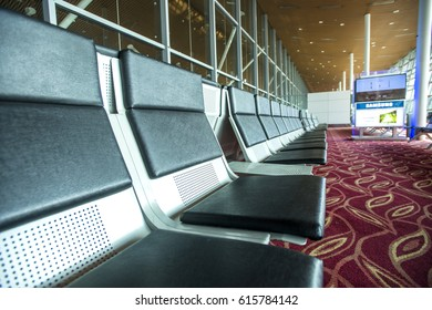 KUALA LUMPUR, MALAYSIA - march 16, 2017: International Airport (KLIA) is Malaysia's main international airport and one of the major airports of South East Asia,Departure lounge at the airport