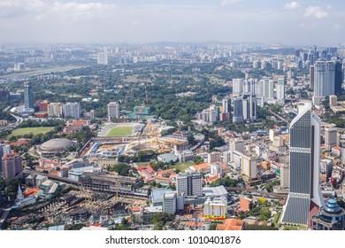 Kuala Lumpur, Malaysia : March, 2017 - Urban views of Kuala Lumpur with tall skyscrapers