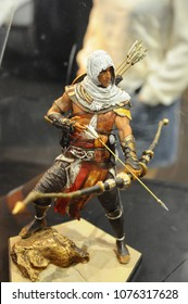 KUALA LUMPUR, MALAYSIA -MARCH 24, 2017: Fiction character and action figure of ASSASSIN'S CREED from popular video games and movies Assassin Creed. The action figure display for public.