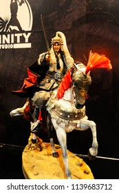 KUALA LUMPUR, MALAYSIA -MARCH 29, 2018: The fictional character of ancient Chinese army's action figure. The army presented complete with armor and weapon.