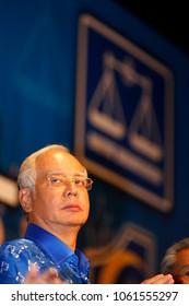 Kuala Lumpur, Malaysia - May 06, 2013: Malaysian Prime Minister Najib Abdul Razak speaks after winning the 13th general elections.