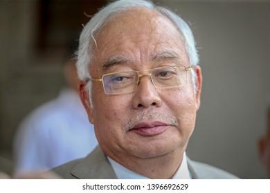 KUALA LUMPUR, MALAYSIA - MAY 07, 2019 Former Malaysian Prime Minister Najib Razak is pictured at Kuala Lumpur High Court in Kuala Lumpur,
