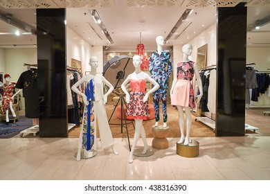 KUALA LUMPUR, MALAYSIA - MAY 09, 2016: interior of the store at Suria KLCC. Suria KLCC is a shopping mall is located in the Kuala Lumpur City Centre district.