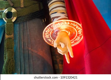 KUALA LUMPUR, MALAYSIA - MAY 13, 2018: Close-up of Doctor Strange Spell Circle from the movie Avengers Infinity.