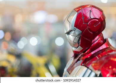 KUALA LUMPUR, MALAYSIA - MAY 13, 2018: Ironman from the movie Avengers Infinity. Ironman is a American superhero film based on the Marvel Comics superhero team produced by Marvel Studios