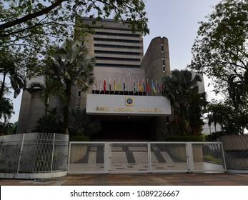 Kuala Lumpur, Malaysia - May 13,2018 : Bank Negara says the ringgit will reflect Malaysia's strong economic fundamentals in the medium and long term.
