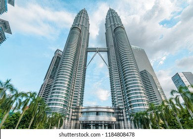 Kuala Lumpur, Malaysia - May 16 2018: Petronas Twin Towers