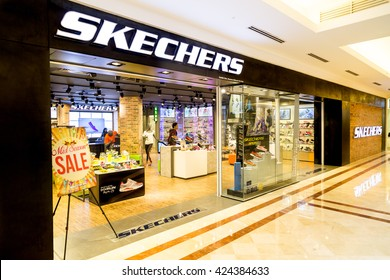 KUALA LUMPUR, MALAYSIA, May 20, 2016: Sketchers outlet at KLCC, Kuala Lumpur.  Skechers is an American shoe company founded by CEO Robert Greenberg and his son Michael in 1992