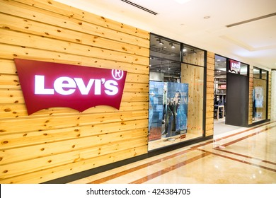 KUALA LUMPUR, MALAYSIA, May 20, 2016: Levi's outlet at KLCC, Kuala Lumpur.  Founded in 1853, Levi Strauss is an American clothing company known worldwide for its brand of denim jeans.