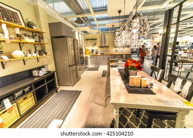 """KUALA LUMPUR, MALAYSIA - MAY 22, 2016 :Interior furniture store """"Ikea"""" in Malaysia. Founded in Sweden in 1943, Ikea is the world's largest furniture retailer."""