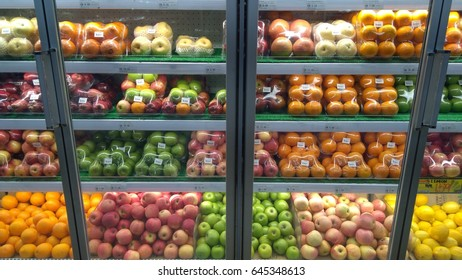 KUALA LUMPUR, MALAYSIA - May  23, 2017: Inside Malaysia supermarket