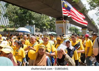 Kuala Lumpur, Malaysia, Nov 19,2016, Bersih for clean and fair election protest