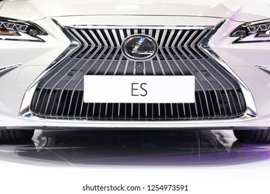 Kuala Lumpur, Malaysia - Nov 27 2018 : A front view grill of brand new 7th Generation Lexus ES previewed in Kuala Lumpur International Motor Show (KLIMS). The Lexus ES 250 is the newest in ES series.