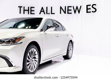Kuala Lumpur, Malaysia - Nov 27 2018 : A front view of brand new 7th Generation Lexus ES previewed during Kuala Lumpur International Motor Show (KLIMS). The Lexus ES 250 is the newest in ES series.