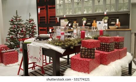 KUALA LUMPUR, MALAYSIA - NOV 30TH, 2016 :Christmas decoration inside Ikea Cheras store. Ikea Cheras is the Ikea second store in Malaysia.