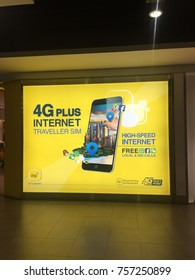 KUALA LUMPUR, MALAYSIA, NOV 7, 2017 : Digi Telecommunications Sdn. Bhd.,advertisement DBA digi, is a mobile service provider in Malaysia. It is owned in majority by Telenor ASA of Norway with 49%.