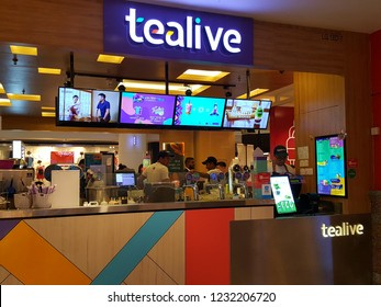 Kuala Lumpur / Malaysia - November 11 2018: Tealive store in a shopping mall, is a Chatime re-brand outlets. Chatime is a Taiwanese global franchise teahouse chain based in Taiwan.