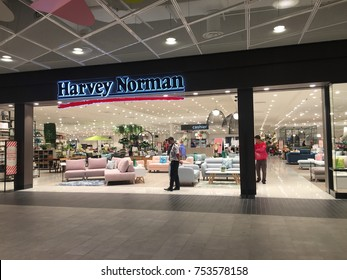 Kuala Lumpur, Malaysia - November 11, 2017: Harvey Norman is a large Australian-based, multi-national retailer of furniture, bedding, computers, communications and consumer electrical products.