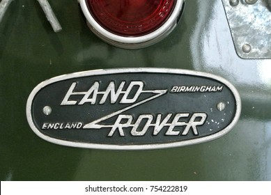 KUALA LUMPUR, MALAYSIA -NOVEMBER 11, 2017: Modern 'LAND ROVER' car emblem and brand logo. The car was build by United Kingdom famous car manufacture.