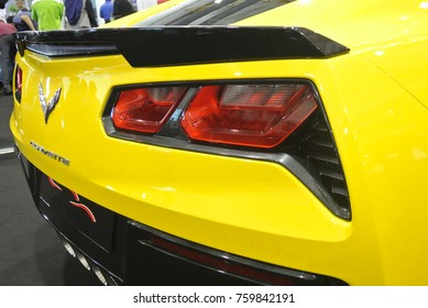 KUALA LUMPUR, MALAYSIA -NOVEMBER 11, 2017: Car tail light or tail lamp. Designed specifically as safety features and indicates the vehicle is braking.