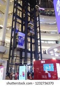 Kuala Lumpur, Malaysia. November 11,2018: Cosmetics famous brand SKII is available at Suria KLCC Shopping Mall.