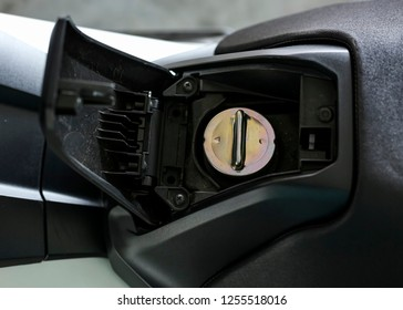 KUALA LUMPUR, MALAYSIA - NOVEMBER 15, 2018 : Detail and close up of Honda X-ADV 745cc Adventure Scooter / Crossover Adventure Bike.