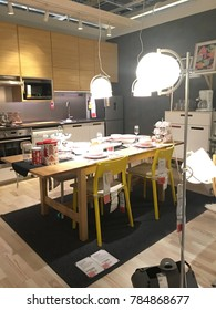 KUALA LUMPUR, MALAYSIA - NOVEMBER 16, 2017: Interior of the Ikea store . IKEA is the world's largest furniture retailer.