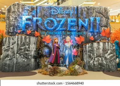 KUALA LUMPUR, MALAYSIA - NOVEMBER 17, 2019: Frozen 2 Magical Journey roadshow at Kuala Lumpur for the promotion of new Disney movie