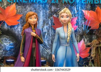 KUALA LUMPUR, MALAYSIA - NOVEMBER 17, 2019: Frozen 2 Magical Journey roadshow at Kuala Lumpur for the promotion of new Disney movie